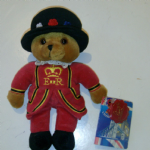 Keel Simply Soft London ER Beefeater  Royal Guard teddy bear TAGGED 22cm